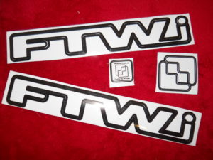 FTW Sticker Set (White  with black outline)
